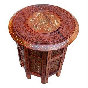 Wooden 12 Inches Round Stool Deep Handicraft Nepal Fine Wooden